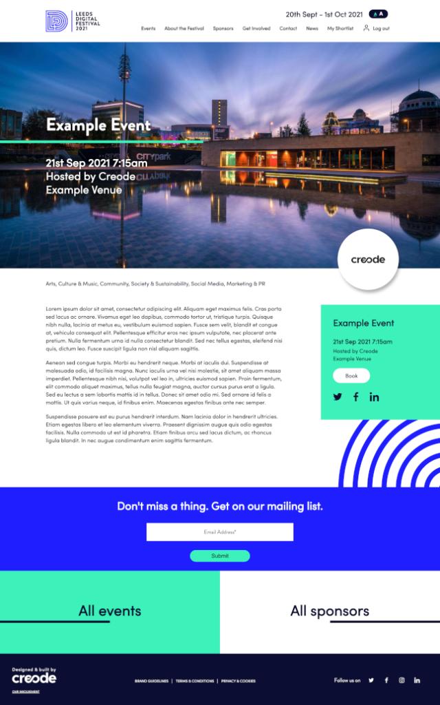 Example event desktop