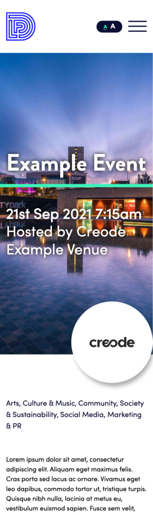 Example event mobile